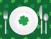 St. Patrick's Silverware Royalty Free Stock Photography