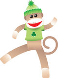 St. Patrick's Sock Monkey Royalty Free Stock Images