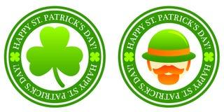 St. Patrick's Stamps vector illustration