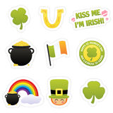 St. Patrick's Sticker Icons royalty free stock images