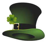 St. Patrick's stovepipe hat. Illustration of a green St. Patrick's stovepipe hat Vector Illustration