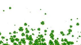 St- Patrick` s Tag, Kleefliegen, nahtloser geschlungener Hintergrund stock footage
