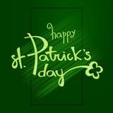 St- Patrick` s Tagesbeschriftung für Ihr Feiertagsdesign Vektor Vektor Abbildung