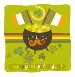St Patrick ` s Tagesbunter Hintergrund Lizenzfreie Stockfotos