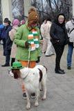 St- Patrick` s Tagesfeier in Moskau Stockfoto