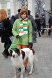 St- Patrick` s Tagesfeier in Moskau Lizenzfreies Stockbild