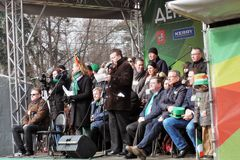 St- Patrick` s Tagesfeier in Moskau Ljubljana, Slowenien, am 15 Stockbild