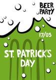 St- Patrick` s Tagesgruß Beschriftungs-St- Patrick` s Tag im f Lizenzfreie Stockfotos