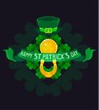 St- Patrick` s Tagesplakatdesign Stockbild