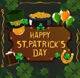 St- Patrick` s Tagesplakatdesign Stockfoto