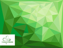 St- Patrick` s Tagespolygonaler abstrakter Hintergrund Stock Abbildung