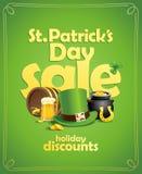 St- Patrick` s Tagesverkaufs-Fahnenkonzept Stockbild
