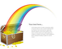 St. Patrick's treasure chest Royalty Free Stock Photo