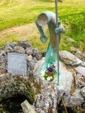 St Patrick ` s väl, Ballintubber abbotskloster arkivfoto