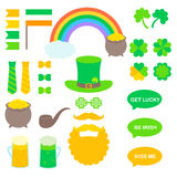 St. Patrick`s vector elements. For photo booth printing or application vector illustration