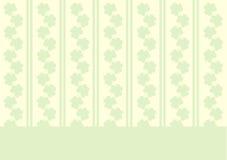 St. Patrick's wallpaper with shamrocks Stock Image