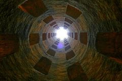 St. Patrick`s Well, a masterpiece of engineering in Orvieto, Stock Photos
