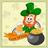 St Patrick souhaitant la chance de l'Irlandais Photographie stock libre de droits