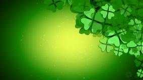 St Patrick Tag - Blatt-Klee-Animation des Grün-vier lizenzfreie abbildung