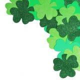 St Patrick Tag. Shamrock lokalisiert Lizenzfreie Stockbilder