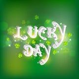 St Patrick Tagesfeier mit Text 3D Lizenzfreie Stockfotos