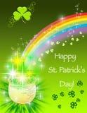 St Patrick Tageskarte Lizenzfreie Stockbilder