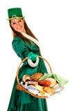 St Patrick vakantievrouw stock foto's