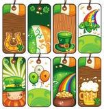 St. Patrick van prijskaartjes Dag Stock Afbeeldingen