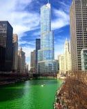St Patrick y x27; día de s en Chicago Imagen de archivo