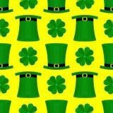 St Patricka Dag vlak patroon Royalty-vrije Stock Foto's