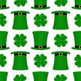 St Patricka Dag vlak patroon Royalty-vrije Stock Fotografie
