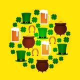 St Patricka Dag vlakke ronde Royalty-vrije Stock Fotografie