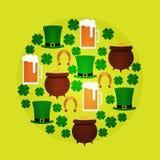 St Patricka Dag vlakke ronde Royalty-vrije Stock Foto
