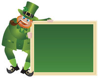 St Patricks与黑板的日妖精 免版税库存图片