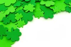 St Patricks天三叶草边界 免版税库存图片