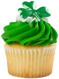 圣帕特里克的杯形蛋糕 免版税库存照片