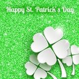 St Patricks天与3d白皮书的贺卡 图库摄影