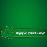 St. Patricks天卡片 免版税库存图片