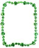 St Patricks天在白色背景成串珠状 库存照片