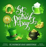 St Patricks天套传染媒介例证 库存图片