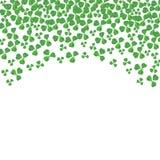 St Patricks天弯曲了三叶草顶面边界在白色的 免版税库存图片