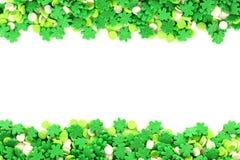 St Patricks天糖果框架 图库摄影
