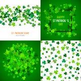 St Patricks天背景集合 例证 图库摄影