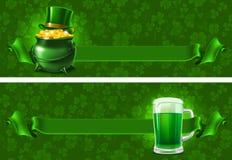 St.Patricks天背景 库存照片