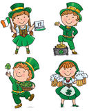 St. Patricks天逗人喜爱的孩子 库存图片