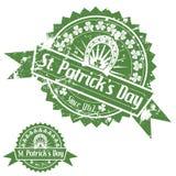 St. Patricks天邮票 库存例证