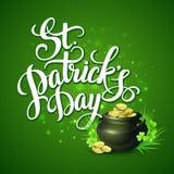 St Patricks天问候 也corel凹道例证向量 免版税库存照片