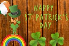 St Patricks天问候 免版税图库摄影