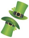 St Patricks日妖精帽子例证 库存图片