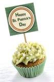 St patricks日杯形蛋糕 库存照片